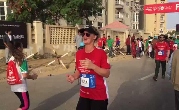 Shaniera Akram running