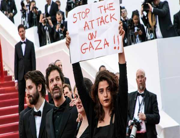 'Stop the attack on Gaza', actors protest at Cannes Film Festival