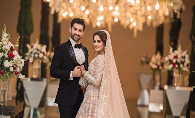 In Pictures Aiman Khan S Muneeb Butt S Valima Reception Oyeyeah