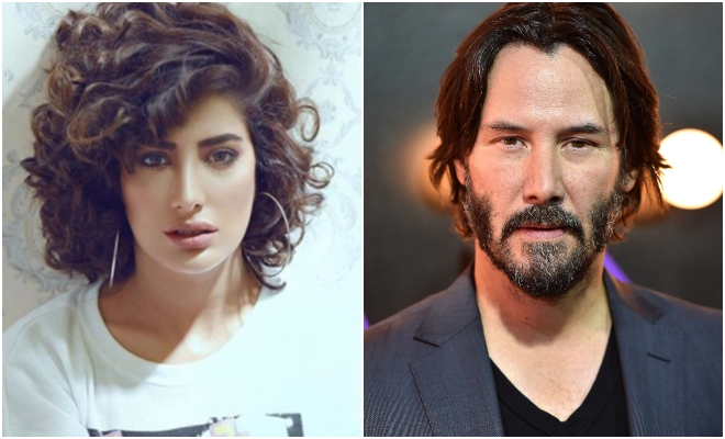 Image result for Mehwish Hayat and keanu