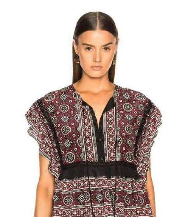 American clothing brand selling Ajrak patterned top, faces ...