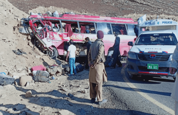 Babusar Top Bus Accident 22 dead 15 injured
