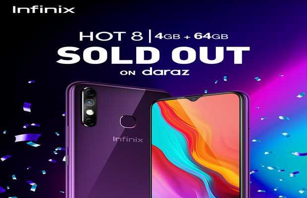 Infinix Hot 8 4+64GB with 5000mAh Battery