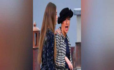 Gigi Confronts Catwalk Crasher at Chanel's Paris Fashion Week Show