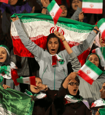Iran for first time in decades allows women into football stadium
