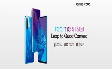 Realme 5, 5 Pro Pakistan Launch on Oct 2
