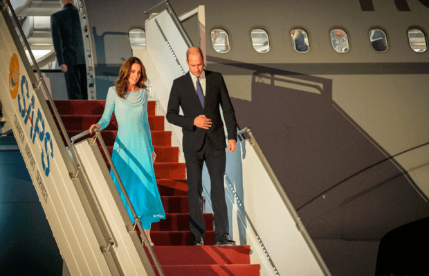 Duke and Duchess of Cambridge have arrived in Pakistan on historic tour
