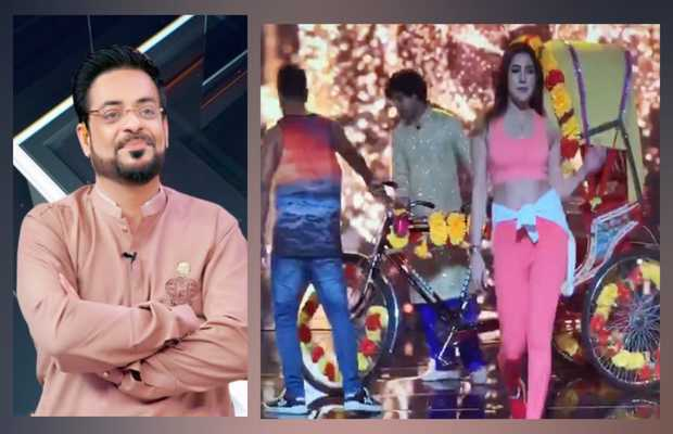 Aamir Liaquat takes a dig at Mehwish Hayat for her dance video