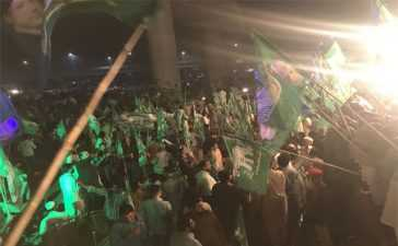 Azadi March Day 3 - Protesters march towards Lahore
