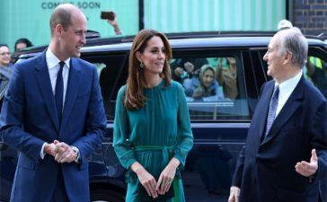 Duke and Duchess of Cambridge meet HH Aga Khan