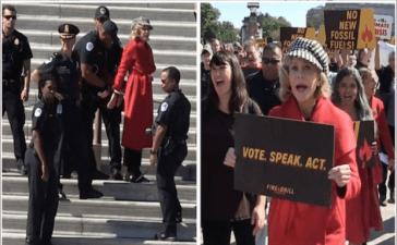 Jane Fonda gets arrested during climate Protest