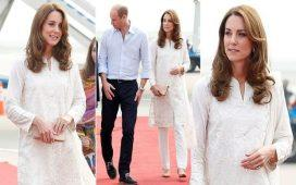 Kate Middleton Just Rocked a White Outfit from Gul Ahmed and We Are in Love
