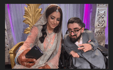 Pakistani differently-abled groom's wedding reception