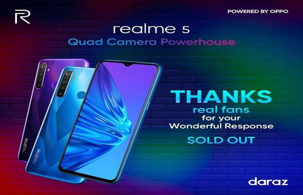Pakistan's new best seller budget king realme 5 sold out