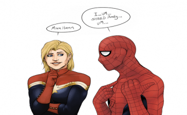 Captain Marvel and Spiderman Might Be In Love in the Next Movie