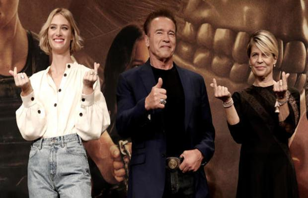 Arnold Schwarzenegger, Linda Hamilton and others are in South Korea for film promotion