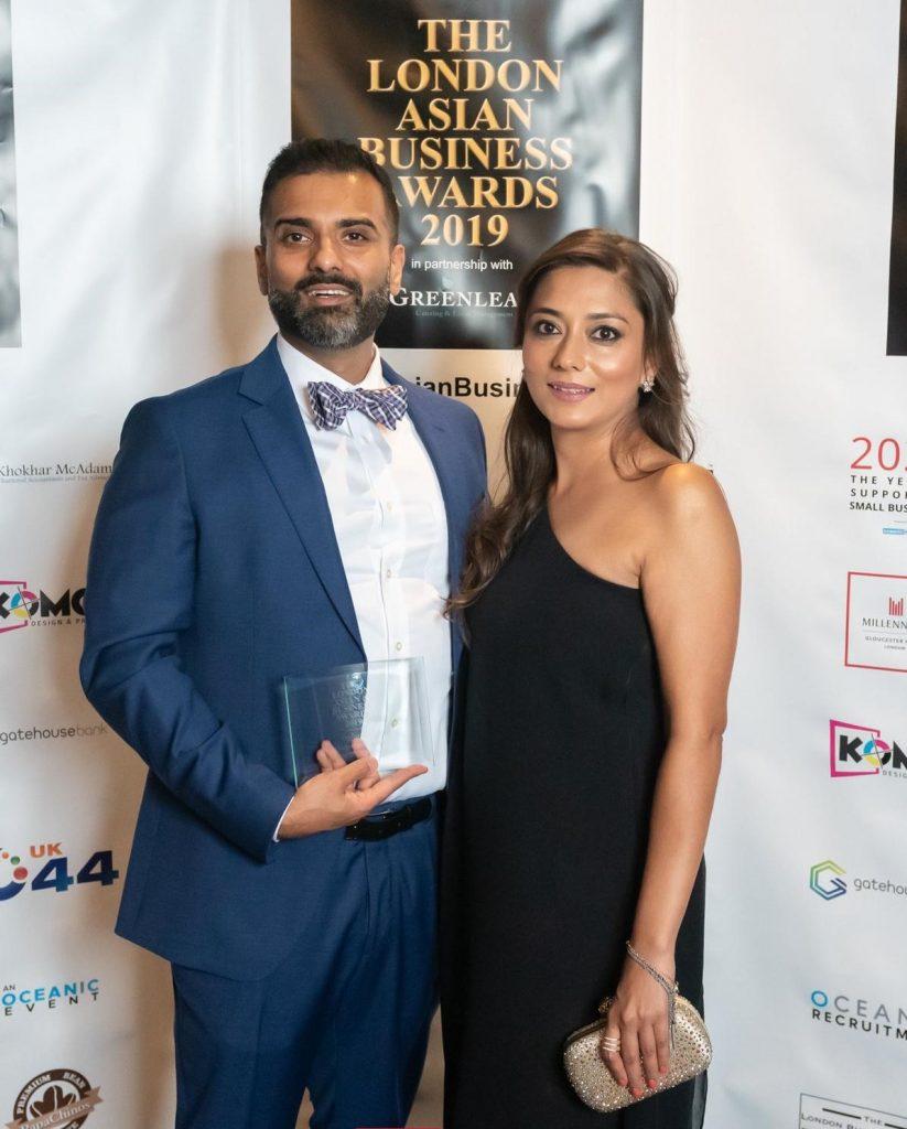 Aida khan with husband