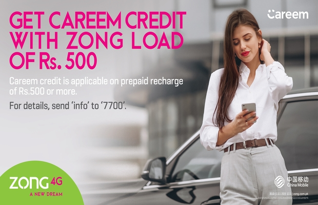 ZONG 4G Offers Free Careem Credits
