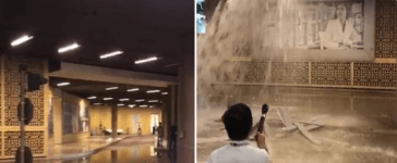 Video Water enters Dubai Mall