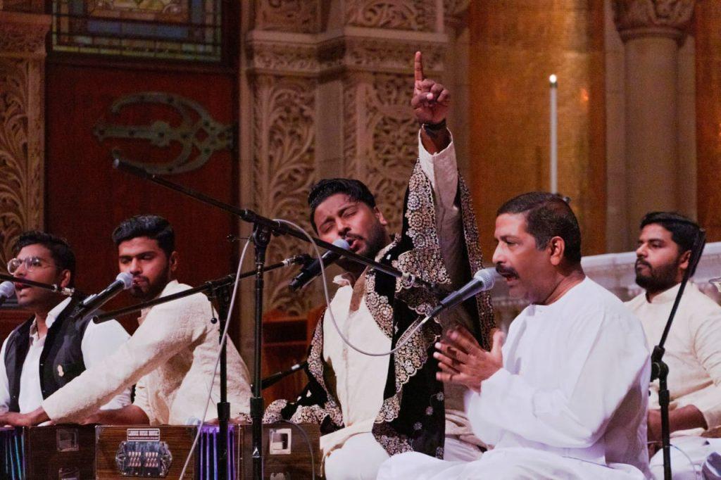 Hamza Akram Qawwal while performing