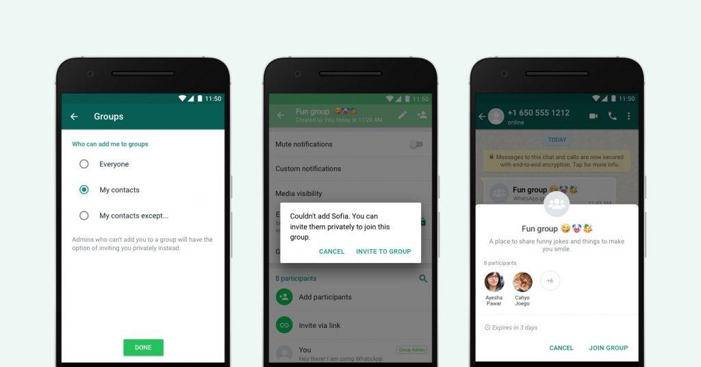 whatsapp new privacy settings