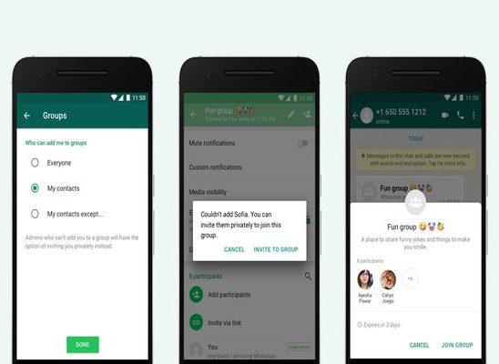 WhatsApp new privacy setting