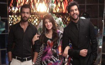 kinza hashmi alongside Asad Siddiqui and Noor Hassan