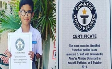 Pakistani Boy sets Guinness World Record by his extraordinary skills