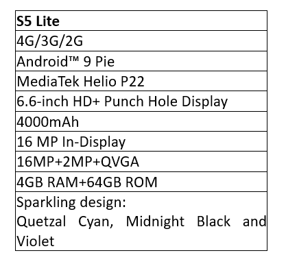 Infinix S5 Lite specification