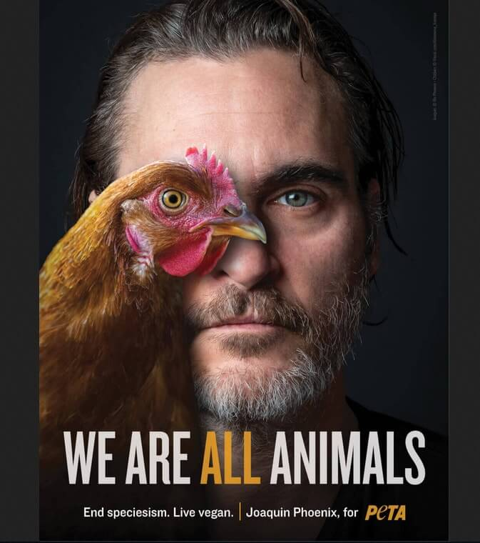 Joaquin Phoenix with hen1