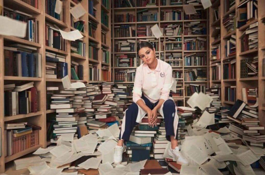 Selena Gomez photoshoot on books1