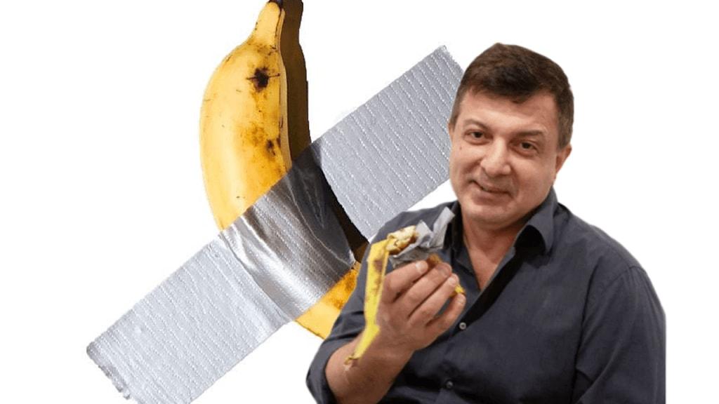 David Datuna with banana