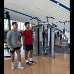 "Cristiano Ronaldo Teaches Novak Djokovic ""How to Jump"""
