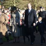 Christmas Day Outing: The royal family members join Queen to attend church service