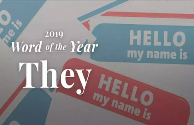 'they' as Word of the Year 2019