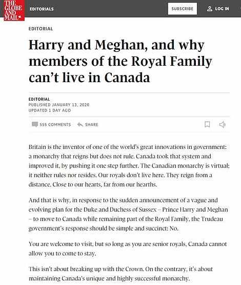 Harry and Meghan Not Welcomed
