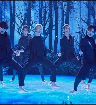 BTS performing Black Swan