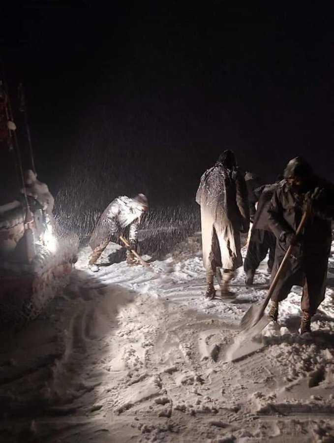 A heavy snowfall