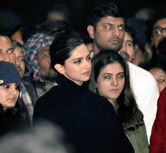 Deepika Padukone  in protest