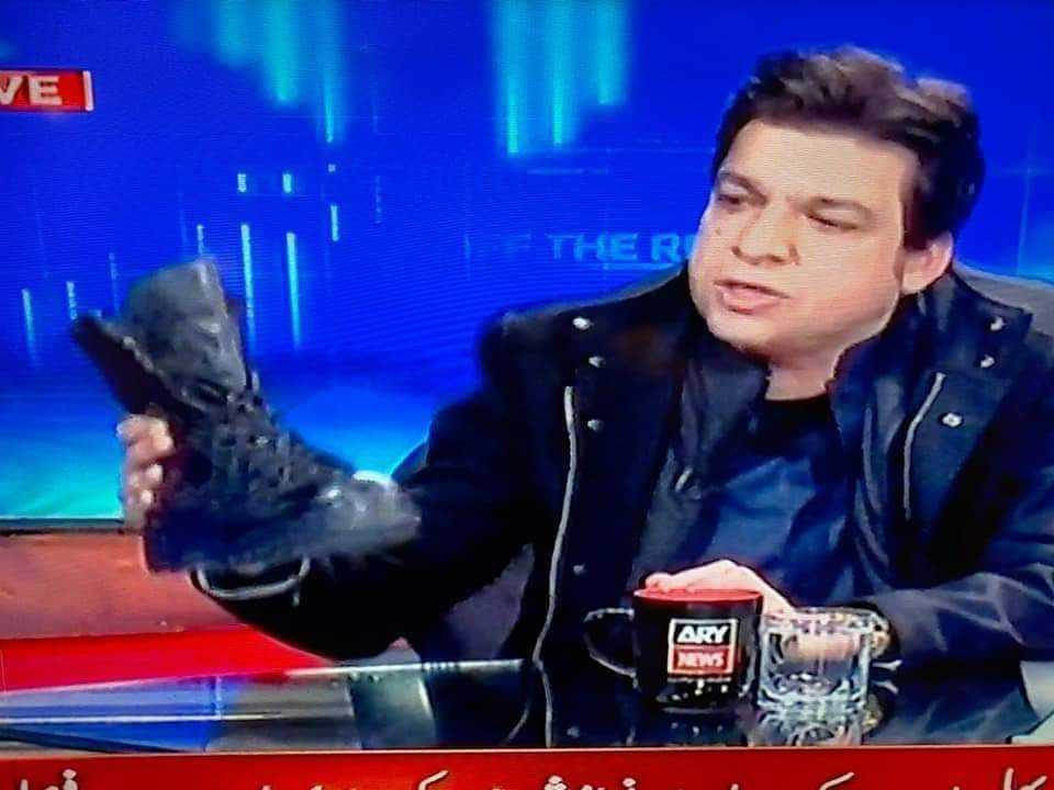 Faisal Vawda with boot