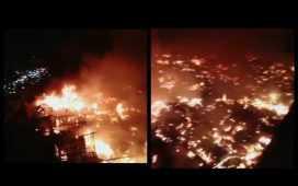 A massive fire