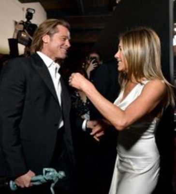 Brad Pitt and Jennife togather