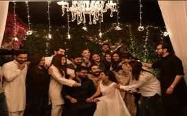 Iqra Aziz and Yasir Hussain's wedding party