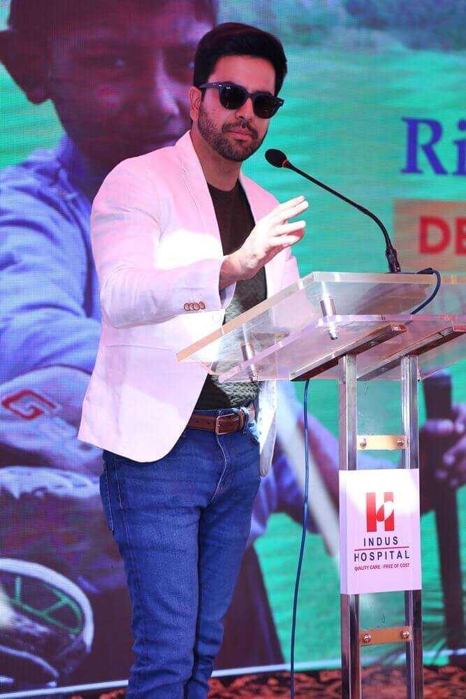 Junaid Khan gave speech
