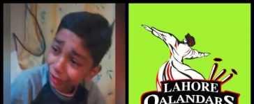 Lahore Qalandars young fan