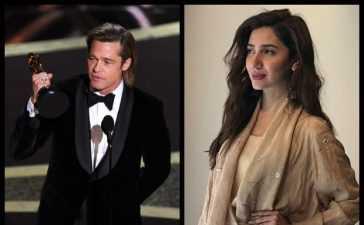 Mahira Khan and Brad Pitt