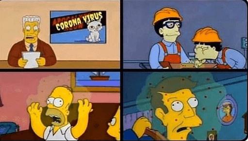 Simpsons 1993 Coronavirus