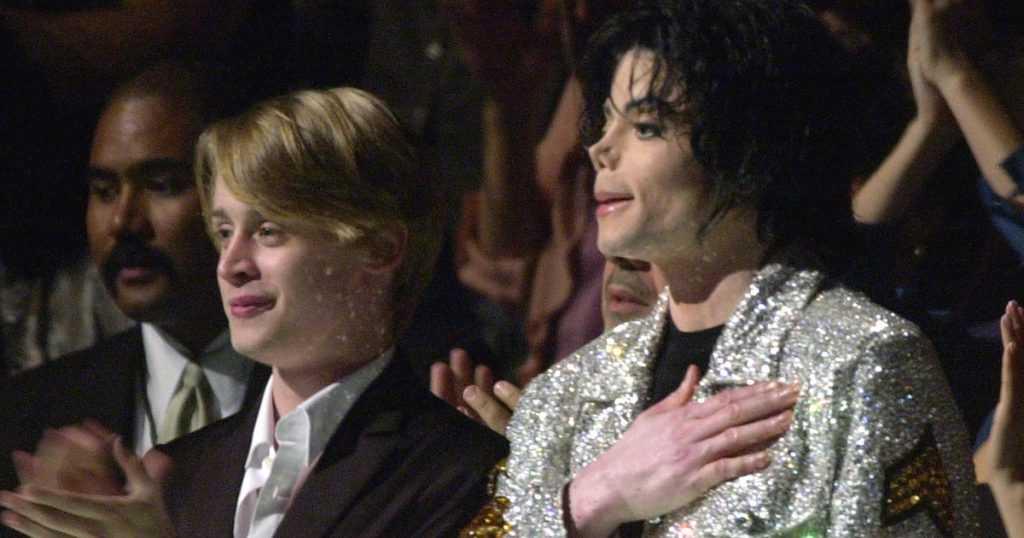 Macaulay Culkin with Michael Jackson
