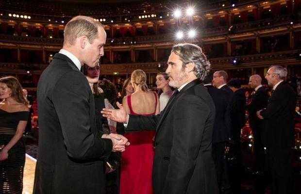 Joaquin PhoenixGreets Prince William