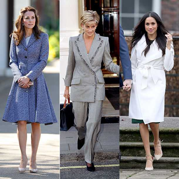 Kate, Princess Diana and Meghan